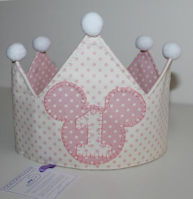 corona de cumpleaños 1 año mickey