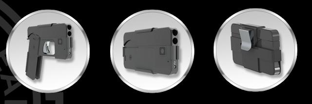 pistola disfrasada como smartphone etapas