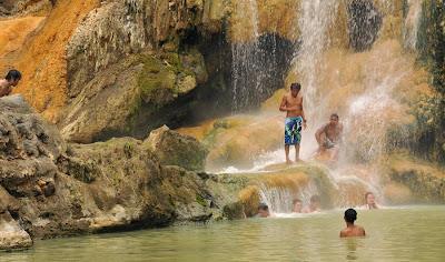 Hot Spring side Lake Segara Anak of Mount Rinjani