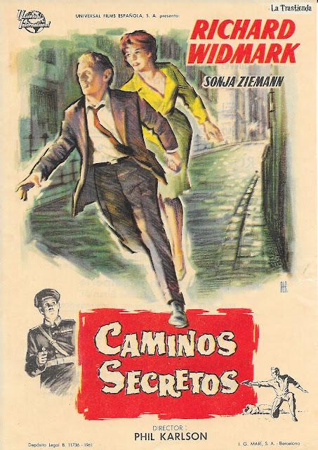 Caminos Secretos - Programa de Cine - Richard Widmark - Sonja Ziemann