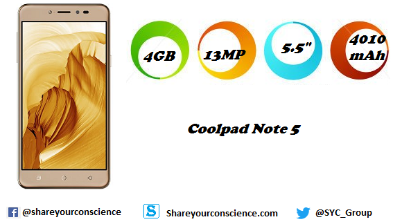 Coolpad Note 5 Price and Specification