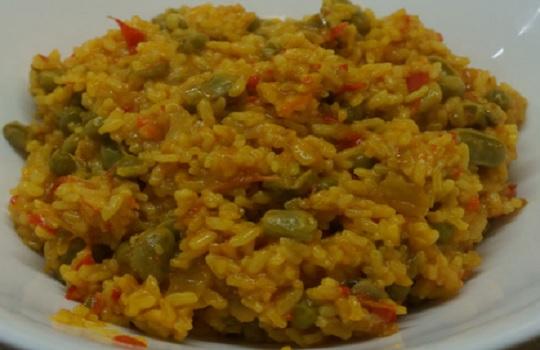 Guiso de arvejas con arroz integral