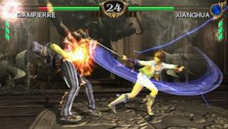 Game fighting versus populer di kalangan gamer konsol Soul Calibur: Broken Destiny iso