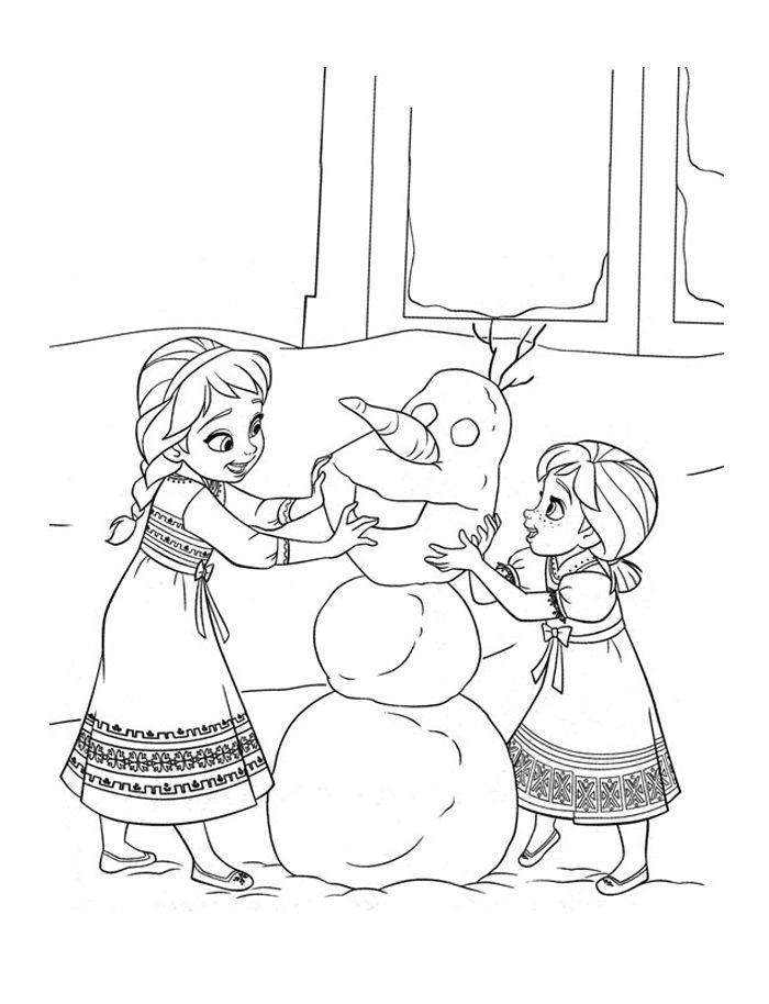 Tranh tô màu Elsa và Anna 3