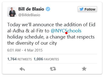 New York City Schools to Add 2 Muslim Holidays to Public