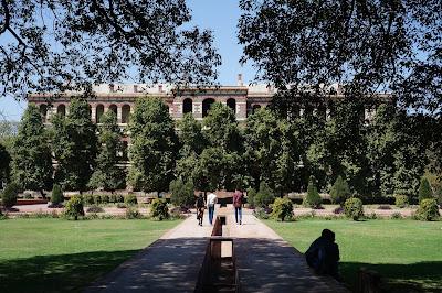 Taman istana yang rimbun