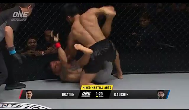 "Hero's Accent - Himanshu Kaushik (4-3) def. Eka ""Egi Rozten"" Aprilianto (2-2) via KO at 3:33 of R1"