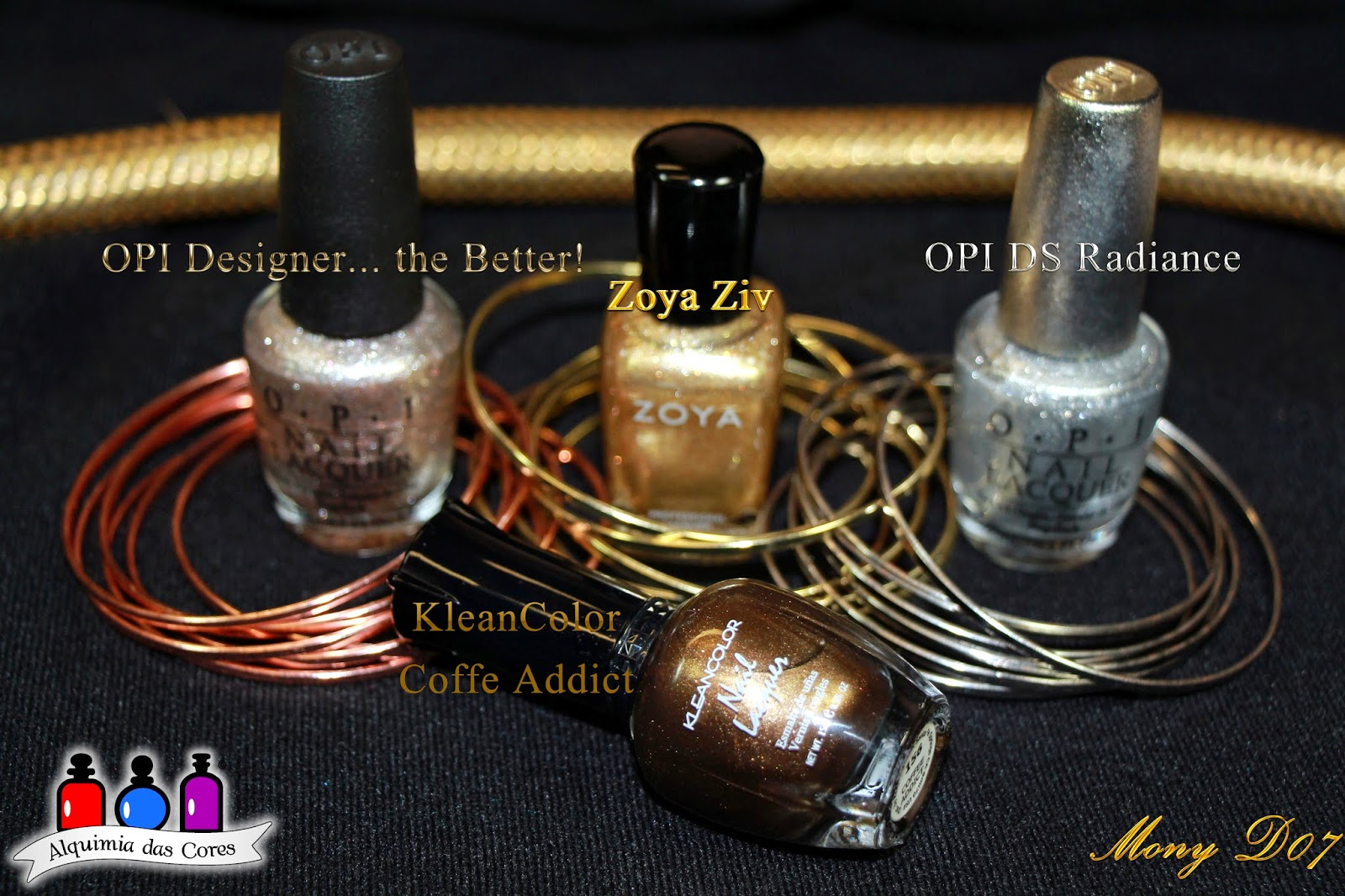 OPI, Designer... the Better!, Zoya, Ziv, DS RADIANCE, ouro branco, prata, ouro, dourado, ouvo vermelho, Nails Craze NC04, Sugar Bubbles SBS 04,  Kleancolor, carimbada, marrom, Coffe Addict, Ano Novo, Degrade, Ninja Polish, Tree of Lights, China Glaze, Def Defyning, Jade is the new Black, Highlight of my Summer, Simone D07, SimoneD07, Mony D07, MonyD07
