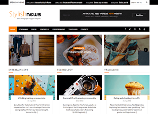 Stylish News Blogger Template