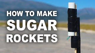 Як зробити цукрову ракету?