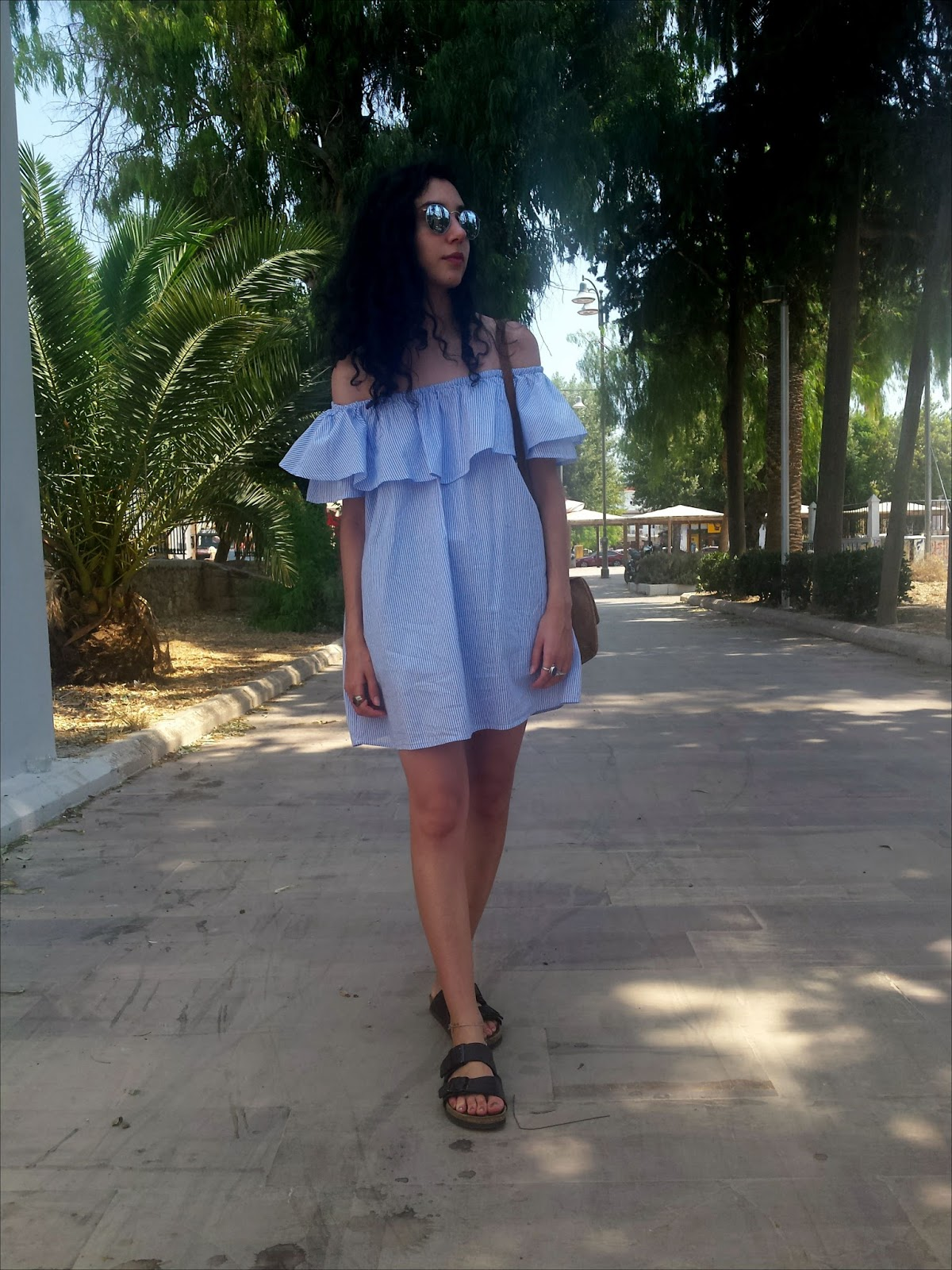 How to wear the Off-shoulder dress: As a Dress on its Own