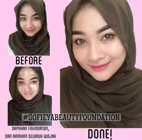 cara pakai sofieya beauty foundation