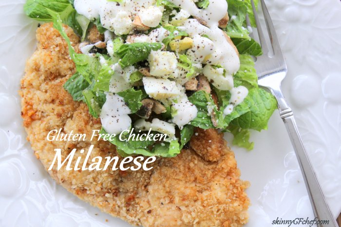 Easy and healthy Gluten-Free Chicken Milanese Cutlets