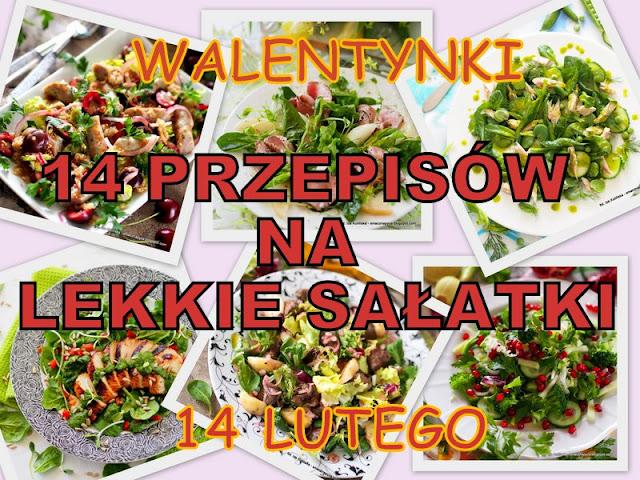 kolacja walentynkowa, salatki na walentynki, przepisy na salatki, co przygotować na kolacje,