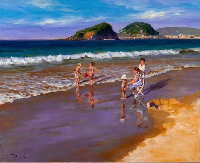 Портретист и пейзажист. Ricardo Sanz