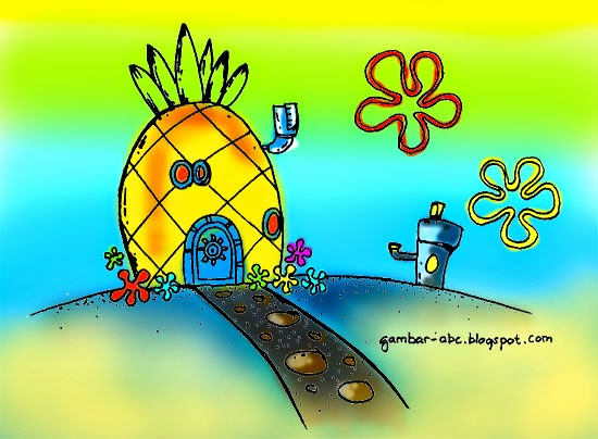 Mewarnai Rumah Spongebob