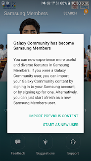 Galaxy Community became samsung members