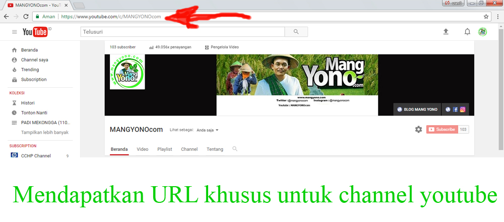 how to change the url of youtube channel