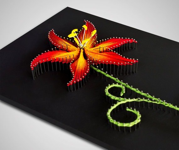Fire Lily String Art