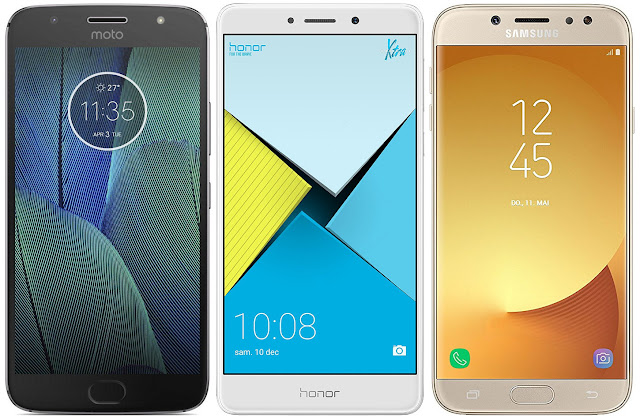 Motorola Moto G5s Plus vs Honor 6X vs Samsung Galaxy J7 (2017)