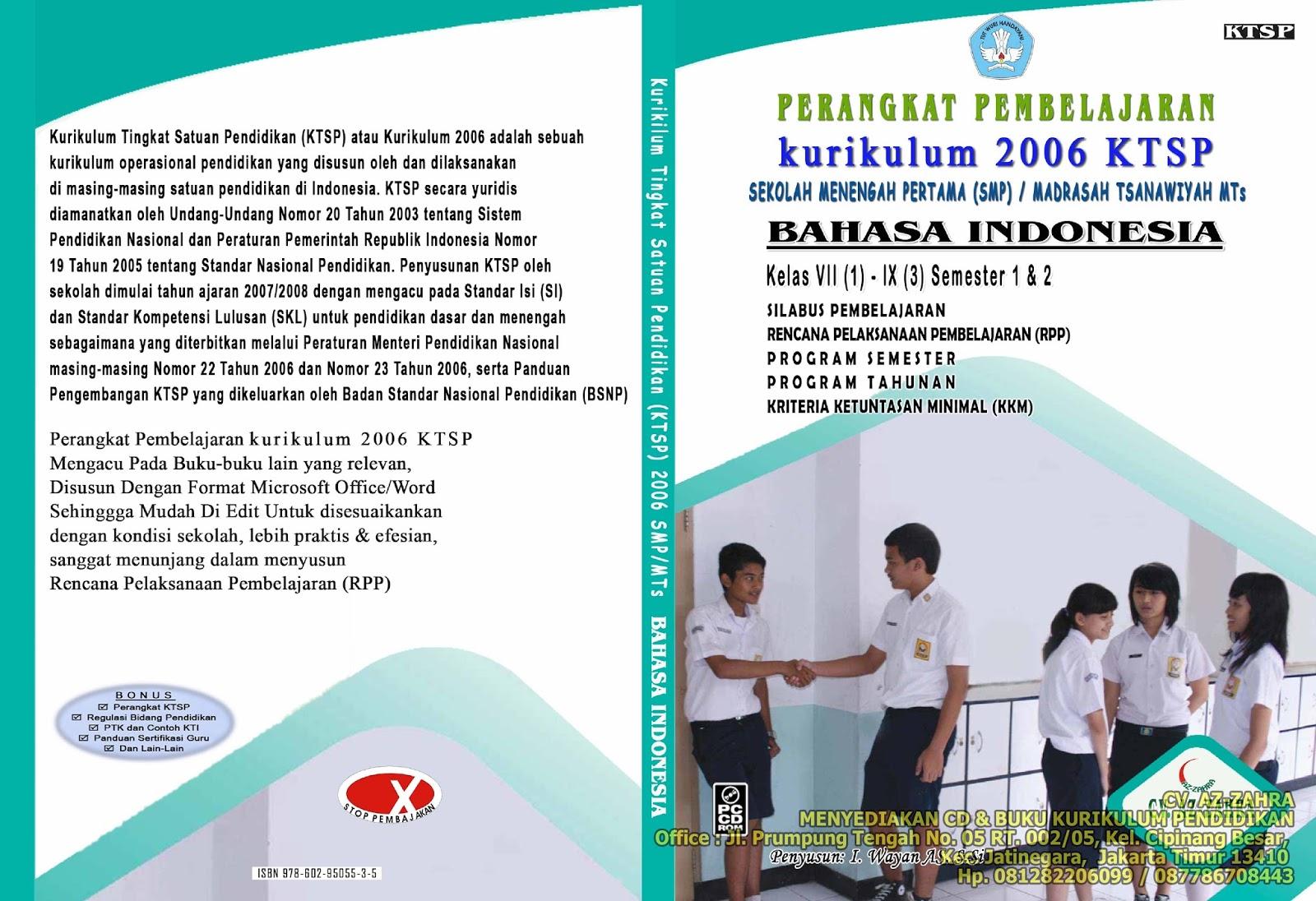 Perangkat Pembelajaran Rpp Smp Ktsp 2006 Perangkat Pembelajaran