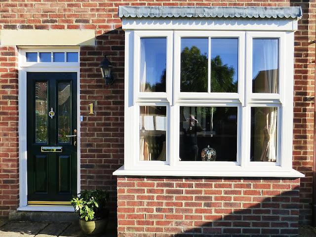 Sash Window Or Door : Beautiful full house of box bay sash windows and green