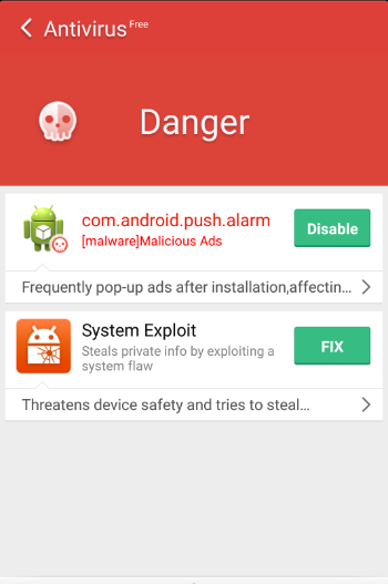 Mobile Anti Virus App for Android