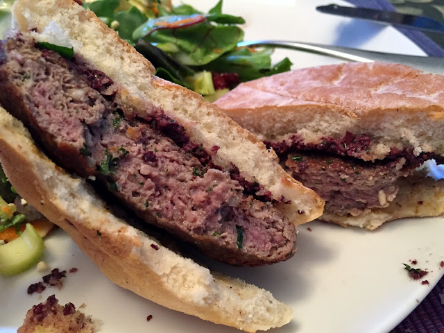 Lamb Burgers with Feta and Tapenade
