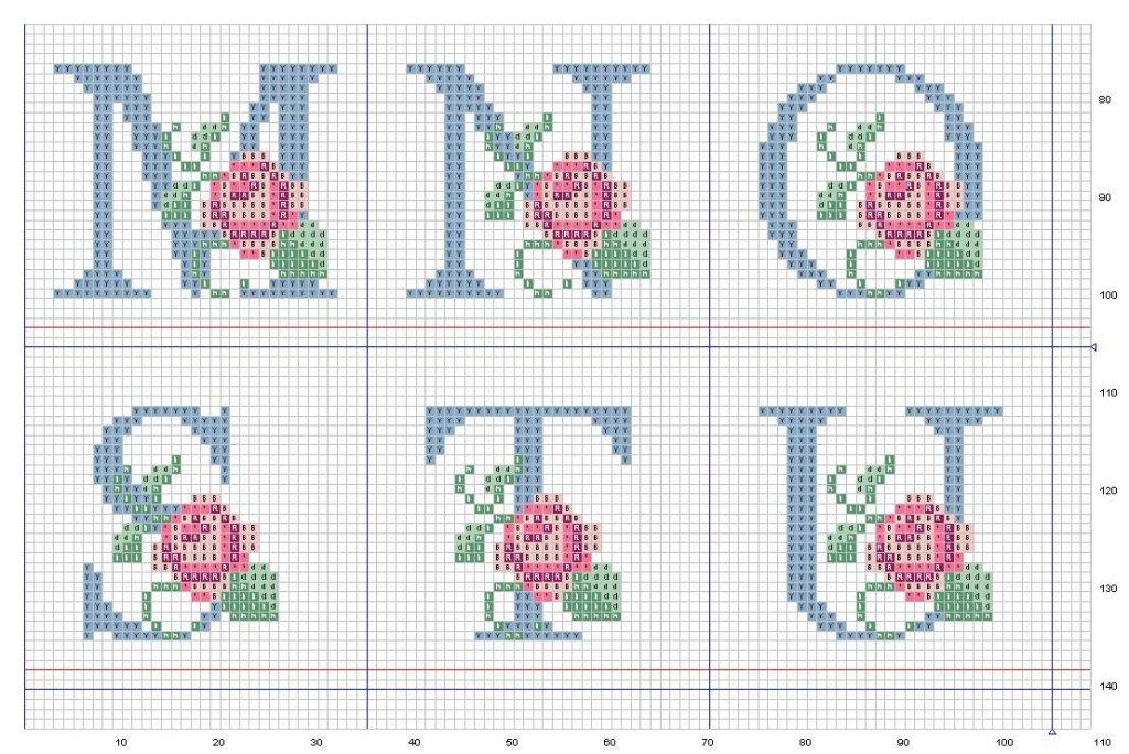 grande raccolta di schemi e grafici per punto croce free: alfabeto e