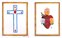 Escapulario de los Sagrados Corazones de Jesús y de María.