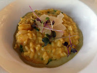 Risotto w/ prawns and curry