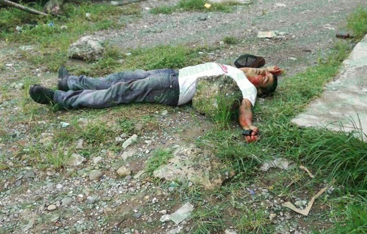 Motosicarios cazan y ejecutan a su victima en la Mexico -Tuxpan