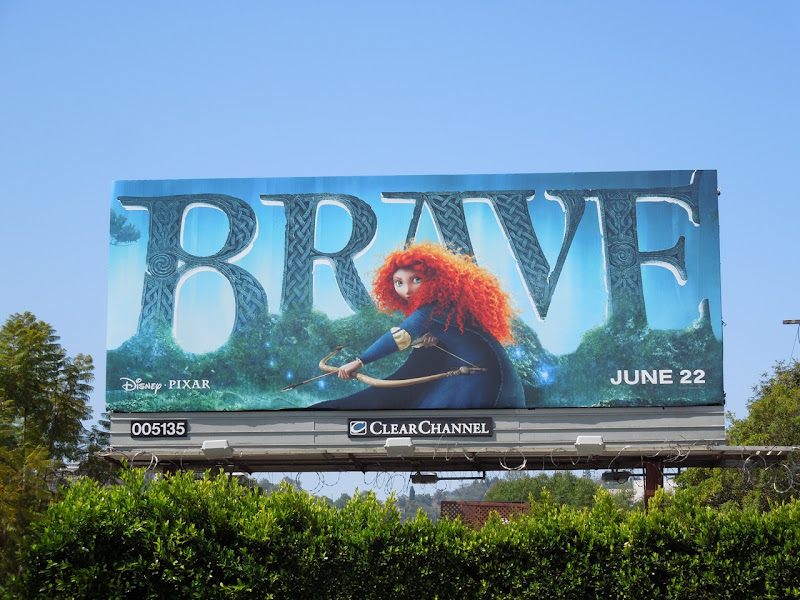 Brave movie billboard