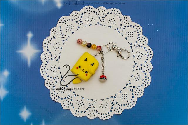 646. Brelok – Pikachu z modeliny / Polymer clay Pikachu keychain