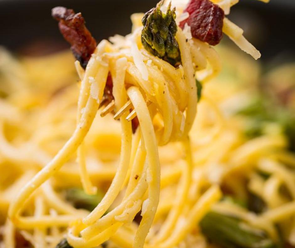 Roasted Asparagus Carbonara - food-drink-recipes.com