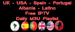 Latino Lista IPTV M3U USA UK Spain Portugal Albania