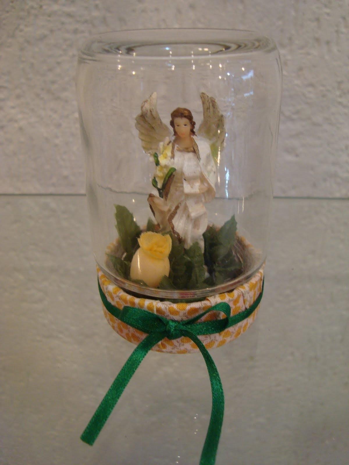 Adesivo De Parede Espelhado ~ Artesanato Fofo Oratório feito com potes de vidro reciclado