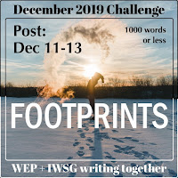 JOIN WEP FOR  DECEMBER 2019! OUR CHALLENGE, FOOTPRINTS.