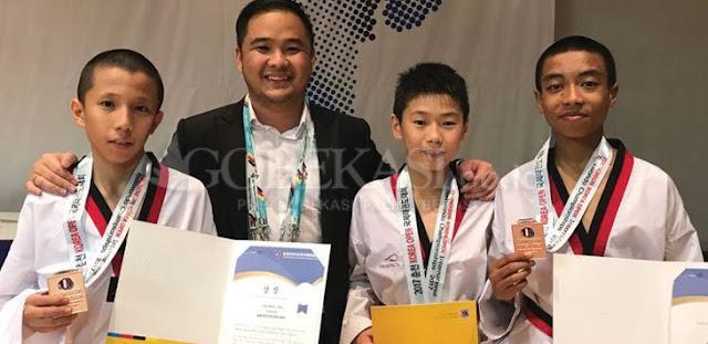 Tanpa Support KONI, Atlit Taekwondo Bekasi Raih Prestasi Di Korea