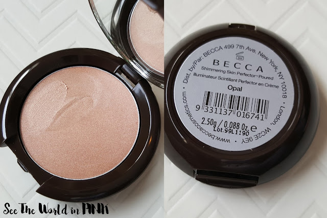 """Becca Highlighter Comparison and Reviews - """"Shimmering Skin Perfector"""" Pressed vs. Poured vs. Liquid"""