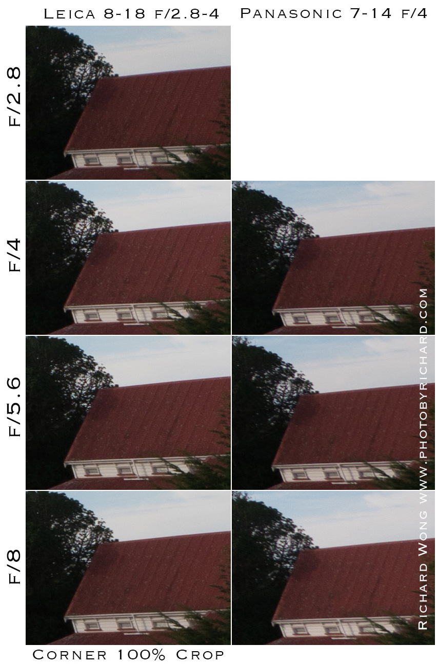 Leica DG Vario-Elmarit 8-18mm f/2.8-4.0 Asph, тест резкости в углу кадра