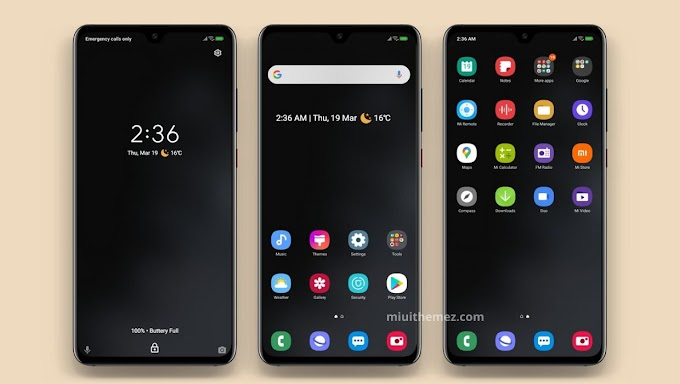OneUi Black Q MIUI Theme | Experience Samsung's One UI Dark Look on Xiaomi Devices