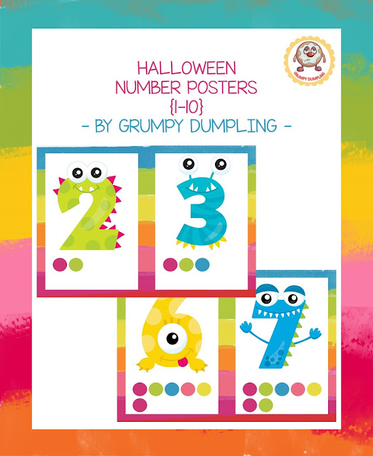 https://www.teacherspayteachers.com/Product/Halloween-Monster-Number-Posters-1-10-2167759