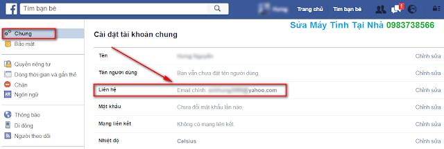 Hướng dẫn thay đổi địa chỉ mail tài khoản Facebook