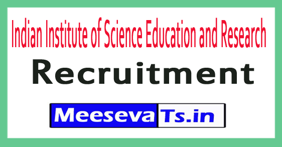 Indian Institute of Science Education and Research IISER Recruitment