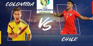 مباشر مشاهدة مباراة تشيلي وكولومبيا بث مباشر 29-6-2019 بطولة كوبا امريكا يوتيوب بدون تقطيع