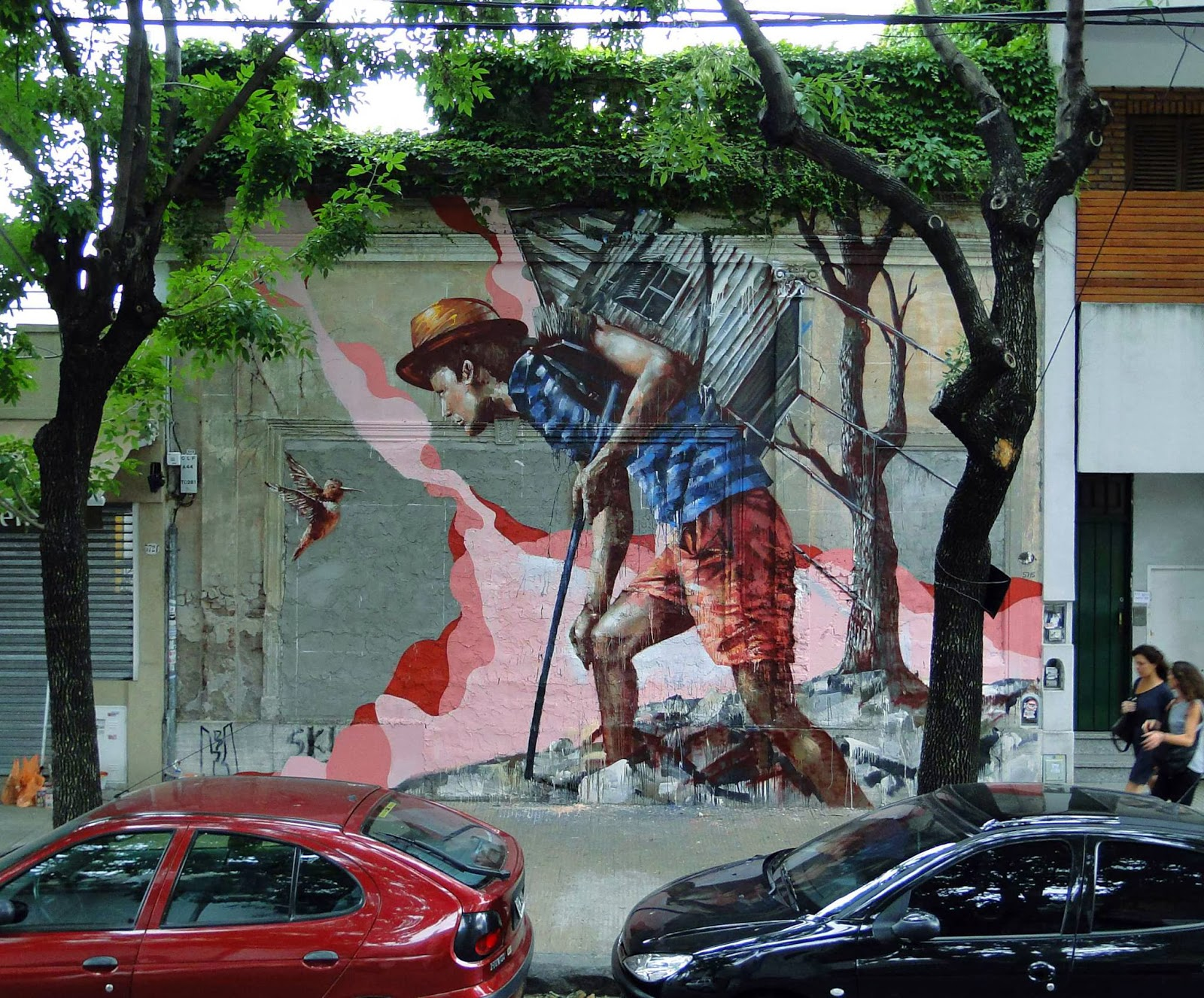 """Homeward Bound"" New Street Art Piece by Fintan Magee in the city of Buenos Aires in Argentina. 1"