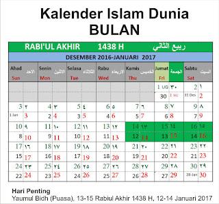 Rabiul Akhir 1438 H Kalender Islam Bersatu Hikmah 313