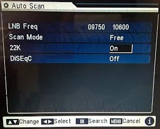 How to set dd free dish signal setting
