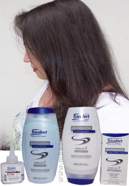 Shampoo, condicionador, silicone e tônico antiqueda